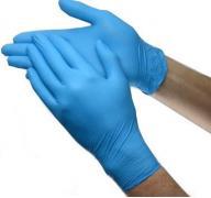 Перчатки нитриловые (опудренные)