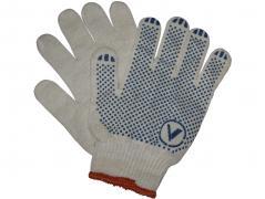 Перчатки трикотажные уплотненные с ПВХ точкой 4 нити