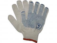 Перчатки трикотажные уплотненные с ПВХ точкой 5 нитей