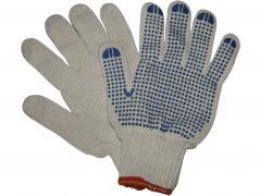 Перчатки трикотажные уплотненные с ПВХ точкой 6 нитей