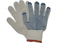 Перчатки трикотажные уплотненные с ПВХ точкой 7 нитей