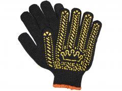 Перчатка ХБ с точкой ПВХ уплотненная «Корона»